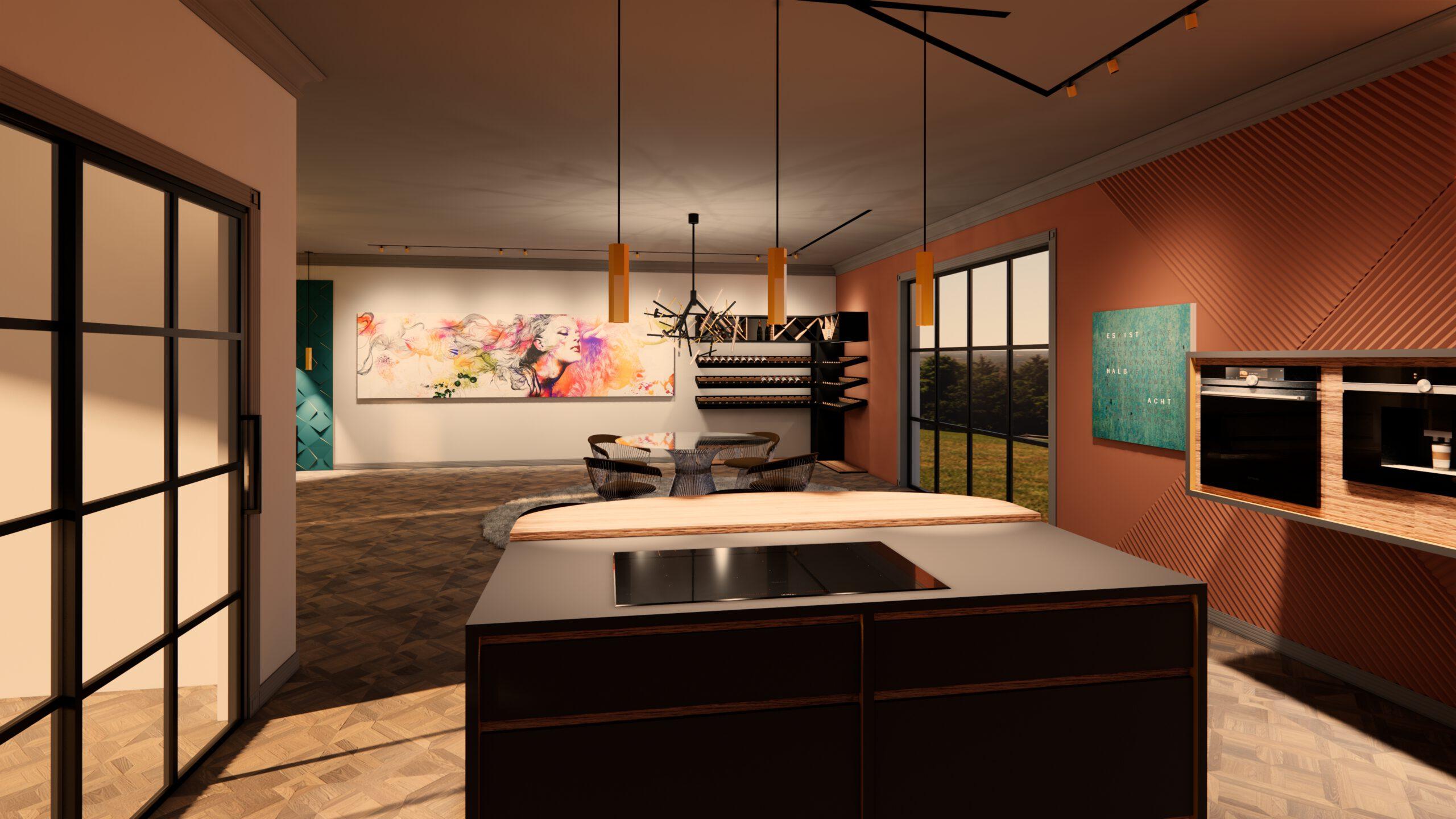 Küche Blickrichtung Esszimmer
