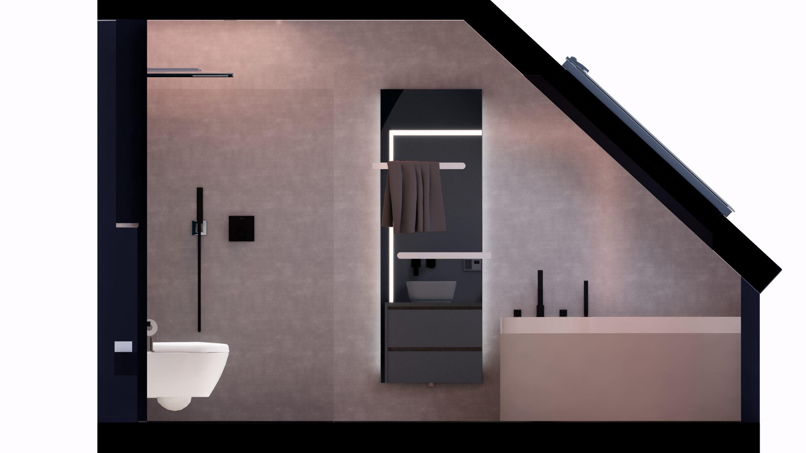 Handtuchheizkörper Dusche Softboard WC Steinberger Amaturen Beleuchtung LED Spiegel Badezimmer Fliesen